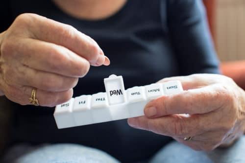 Tablettenbox für Senioren