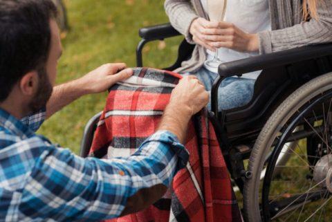 Rollstuhl Wickeldecke für Senioren