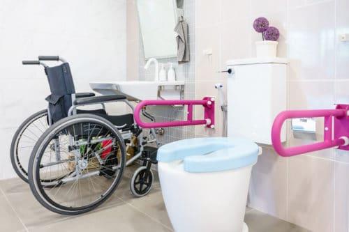 Toilettenstützgriffe für Senioren und Rollstuhlfahrer