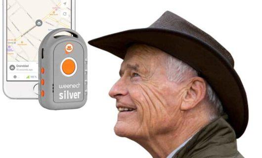 Weenect Silver - GPS Tracker mit SOS Taste für Senioren