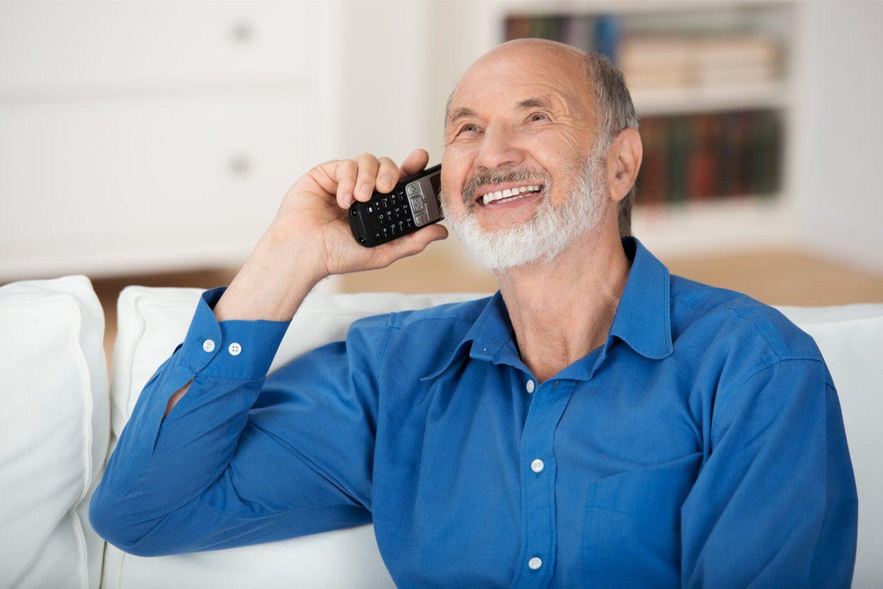 Telefon mit Fototaste für Senioren